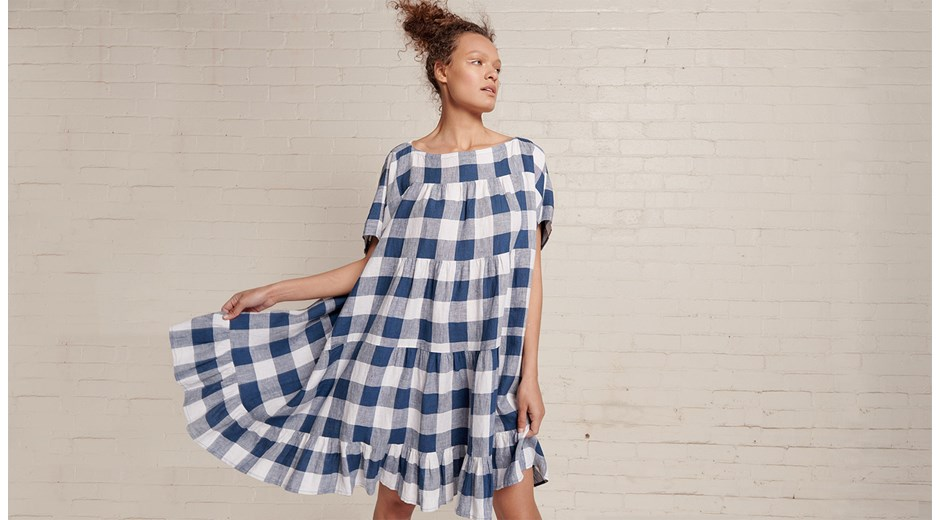 Infinity Dress - Large Gingham