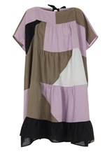 Patchwork Linen Infinity Dress